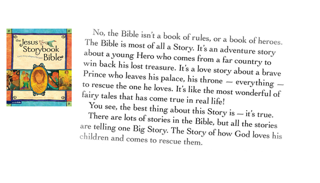 Jesus Storybook Bible Sally Lloyd Joines Quote