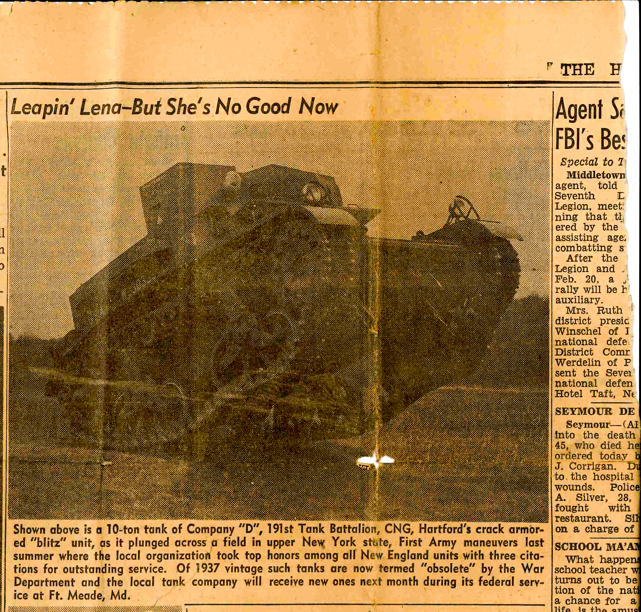 19400401 Hartford Courant Tank